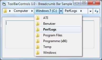Create Explorer style breadcrumb bars